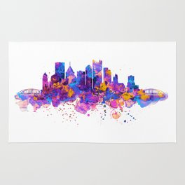 Pittsburgh Skyline Rug