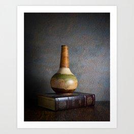 Vase and Book Art Print