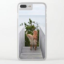 Beach Dog Clear iPhone Case