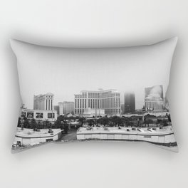 Back Side of the Bellagio // Las Vegas Strip City Landscape Cloudy Snow Day Foggy Raw Photograph Rectangular Pillow