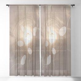 sperm fertilization live Sheer Curtain
