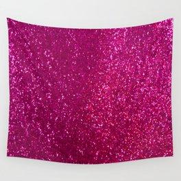 Glamours Fuchsia Glitter Wall Tapestry