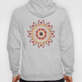 Autumn Folk Mandala White Hoody
