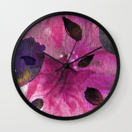 Watercolor Fuchsia Mirage Wall Clock