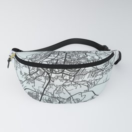 Prishtina, Kosovo, White, City, Map Fanny Pack
