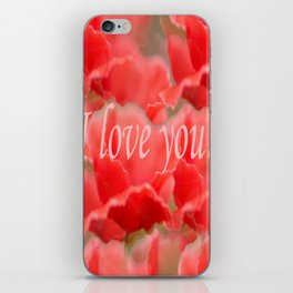 Love You! Red Poppies #decor #society6 iPhone Skin