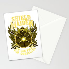 Shield Maiden We Can Fight For Ourselves Warrior Stationery Cards
