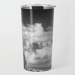 Istanbul: A Fusion of Black and White Travel Mug