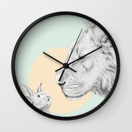 Lion and Bunny Wall Clock