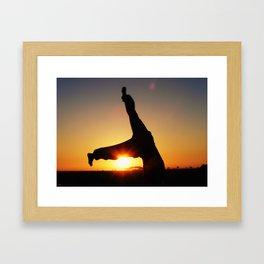 Sunset Hanstand Framed Art Print