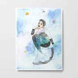 Quinzy | Inked Mermaids Series Metal Print