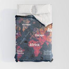 world map 115 #worldmap #map Comforters