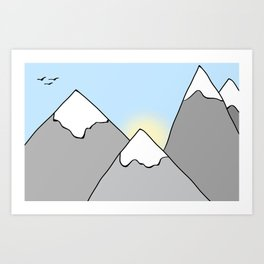 Ain't No Mountain Art Print