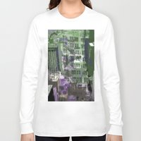 houston Long Sleeve T-shirts featuring Downtown Houston by TheBigBear