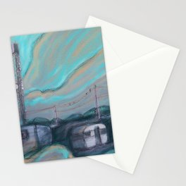 Masts, dishes and wires Stationery Cards