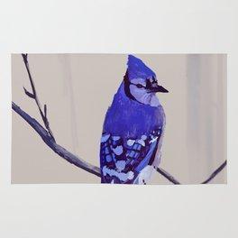 Blue Jay Bird Rug
