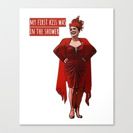 My First Kiss Was in The Shower Canvas Print