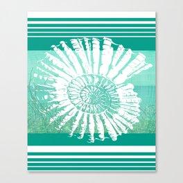 Nautilus Decor Mixed Media Piece Canvas Print