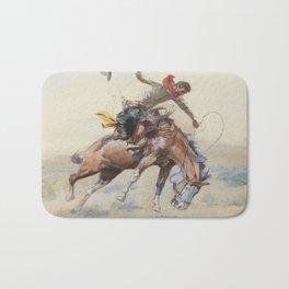 C.M. Russell The Bucker Vintage Western Art Bath Mat