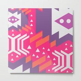 Future geometry in pink Metal Print