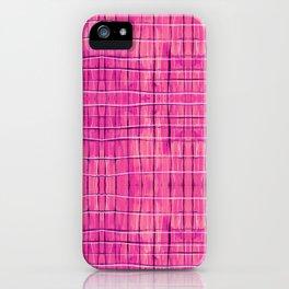 Magenta Madras Plaid iPhone Case