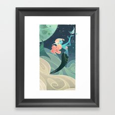 Sky Mermaid Framed Art Print