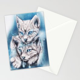 Blue Winter Lynx - Sheena Pike Art & Illustration Stationery Cards