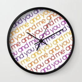 You and Me Rainbow Wall Clock