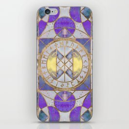 Web of Wyrd - Purple Painted Texture iPhone Skin