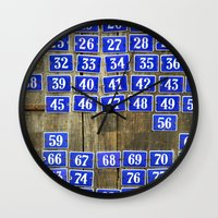 numbers Wall Clocks featuring Numbers by Marieken