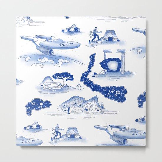 Pop Porcelain- Final Frontier Metal Print