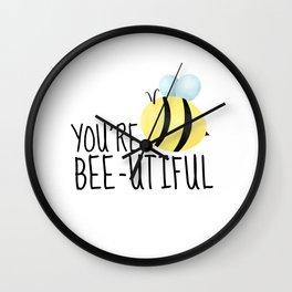 You're Bee-utiful Wall Clock