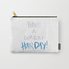 Have a great hairday! (Grey&Blue) Carry-All Pouch