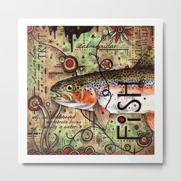 Trout Collage Metal Print