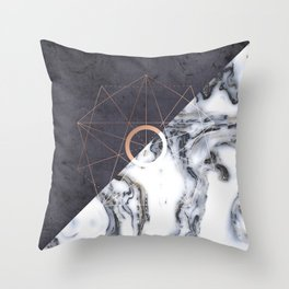 Abstract Marble Throw Pillow