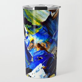 Blue Intersections Travel Mug