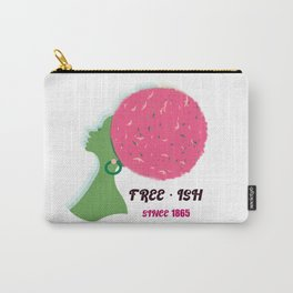 African American Girl Free ish Afro Juneteenth  Girl power  Girl pwr  Pro black Black American Black Lives Matter Love freedom Lady liberty  Black heritage Beauty Aesthetic Beautiful  Female Celebrate Juneteenth  Pan Afri Carry-All Pouch
