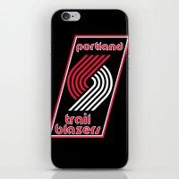 nba iPhone & iPod Skins featuring NBA - Trail Blazers by Katieb1013