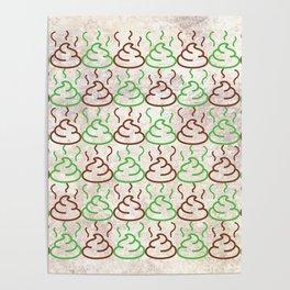 Poop Pattern Poster