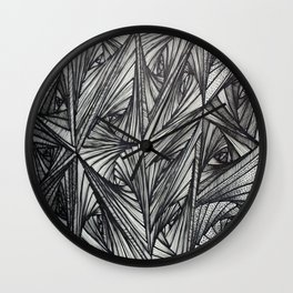 b/w zentangle Wall Clock