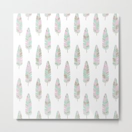 BABY TRIBAL FEATHERS Metal Print