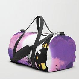 Creepy Halloween Haunted Castle With Bats At Full Moon Ultra HD Duffle Bag