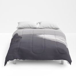 Black beach Comforters