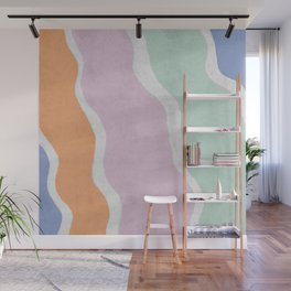 Pastel Waves Wall Mural