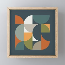 Mid Century Geometric 12/2 Framed Mini Art Print