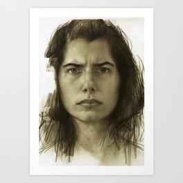 self-portrait at an age Art Print