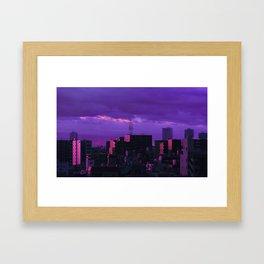 Tokyo Storm Framed Art Print