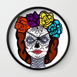 Day of Dead Bride Wall Clock