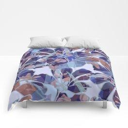 Blue Batik Floral Comforters