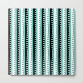 Geometric Pattern #190 (teal zigzag) Metal Print